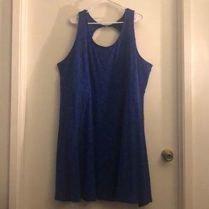 Blue Skater Dress by Lane Bryant